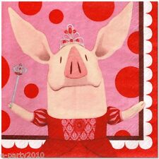 OLIVIA PIG LARGE NAPKINS (16) ~ Birthday Party Supplies Dinner Luncheon Nick Jr