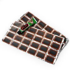48PCS Bike Bicycle Tyre Tire Tube Rubber Patches Puncture Repair Patch Kit Glue
