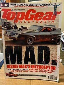 Top Gear Australia magazine June 2015 Fury Road Ken Block garage from BBC show