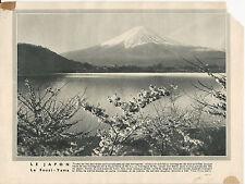 GRAVURE ANNEE 30 LE JAPON LE FOUZI YAMA
