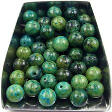 20Pcs 8mm round green turquoise gemstone spacer loose beads stone abd bd115