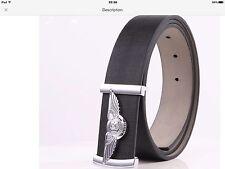 Mens Bentley Logo Leather Belt