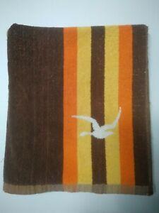 DICKIES vintage beach towel brown birds large retro Australian pool surf