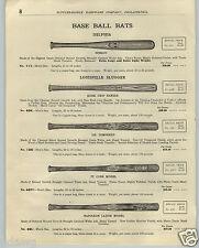 1923 PAPER AD Louisville Slugger Baseball Bat Ty Cobb Nap Napoleon Lajoie Decal