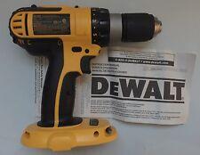 NEW DeWALT DC725 DC725B 18 Volt 18V Cordless Hammer Drill Driver w/ LED Light