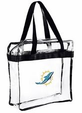 NFL Miami Dolphins clear zipper Massenger Bag Stadium Approved