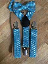 Children Kids Braces Bow Tie Set - Adjustable Elastic Suspenders With Bowtie Set