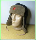 """Military warm Hat """"Ushanka"""" Red Army winter fur hat &  red star~size 58 #28921"""