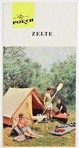 DDR Werbebroschüre Reklame Werbung Faltblatt POUCH Zelte Camping SELTEN!!! 4296