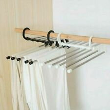5 in1 Multifuntional Stainless Steel Wardrobe Pants Clothes Rack Shelf Hanger