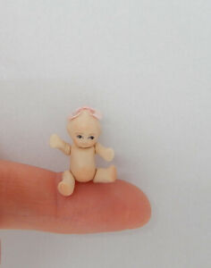 Vintage Teeny Tiny Jointed Porcelain Kewpie Doll Toy Artisan Dollhouse Miniature