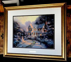Thomas Kinkade Night Before Christmas Home Is Where The Heart Is III S & N Print
