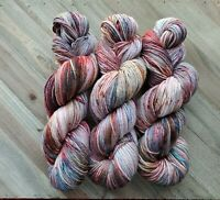 Cozy Flannel Skein Of Hand Dyed Yarn On Superwask Merino DK
