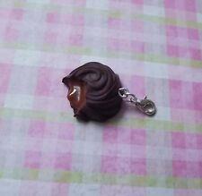 CIOCCOLATO in miniatura Pendente Charm PRALINA fatto a mano fimo dolci kawaii novità