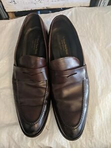 To Boot New York Italy  Brown Leather Penny Loafers Sz 10.5