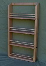 Unfinished Alder 4-shelf Spice Rack