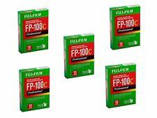 PACK OF 5 '' Fujifilm Fuji FP-100C Instant Color Film 10 Exposures EXP '2018,10'