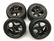 "Traxxas Bandit F/R 2.2"" Anaconda Tires & Tracer Black Chrome Wheels 2478A 2479A"