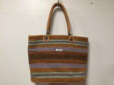 Delrio Shoulder Bag Handbag Brown Multi Colored Double Handle H48