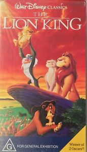 The Lion King and Lion king II: Simba's Pride 2 VHS Disney Rare PAL Free Postage