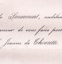 Georges Hureau De Senarmont 1872 Jeanne De Thourette
