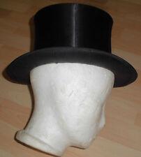 dachbodenfund chapeau claque klapp zylinder hut klappzylinder alt top deko seide