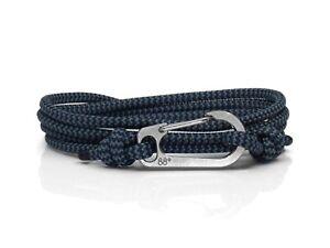 Storm Zig Zag & Titanium Carabiner Bracelet Climber Gift Titanium Bracelet Blue