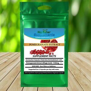 100% Pure Pomegranate Extract (Ellagic Acid) Vegetable Capsules