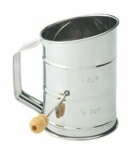 Baking Hand Crank Flour Icing Sugar Sifter Stainless Steel 1-cup