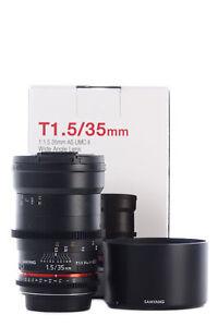 Samyang 35mm T1.5 VDSLR II Cine: Canon Mount