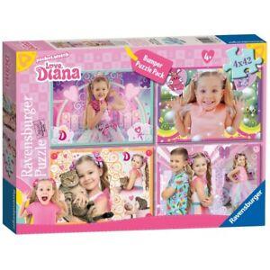 Love Diana 4 x 42 Piece Jigsaw Puzzle Bumper Pack Children's Toy Ravensburger UK