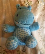 Marks & Spencer M&S Blue Hippo Hippopotamus Soft Comforter Beanie Toy