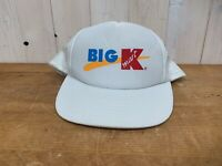 Vintage 1990's Kmart Employee Mesh SnapBack Trucker Hat Big K Logo Cap