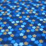 Jerseystoff RETRO Blümchen Blautöne Blumen Sterne Jungenstoff Kinderstoff