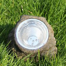 Landscaping Grassplot Garden LED Solar Decorative Rock Stone Spot Lights Lamp
