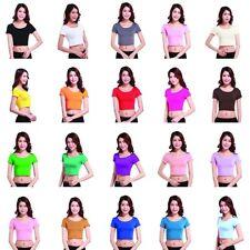 Women Girl Crewneck Summer Crop Tops Short Sleeve Casual Blouse T shirts