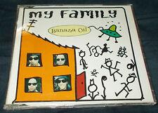 BANNANA OIL MY FAMILY CD SINGLE 3 TRACKS VGC  BOMBA