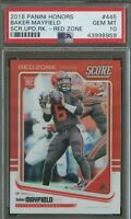 2018 Panini Honors Red Zone Score Baker Mayfield Browns RC 20/20 PSA 10 POP 1