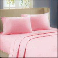 All Bedding Items Pink Solid Stripe 1000 Thread Count Egyptian Cotton All Sizes
