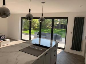 * New 2021 Range *Aluminium Bi fold Doors, Inc Glass * 4 x 2.1 * 4 panels