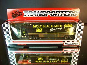 Jimmy Spencer #98 Molly Black Gold 1992 1:87 Racing Team Transporter Matchbox
