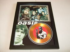 OASIS   SIGNED   GOLD DISC  DISPLAY 6