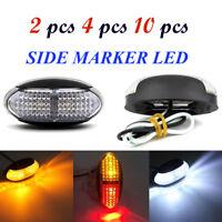2/4/10 12-24V 4 LED Side Marker Rear Indicators Lights RV Car Truck Trailer Lamp