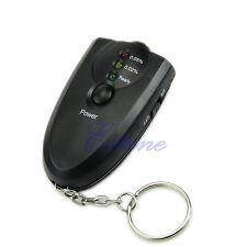 New Breathalyzer Keychain Led Breath Alcohol Tester With Flashlight
