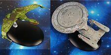 Eaglemoss STAR TREK USS Enterprise NCC 1701 Klingon Bird of Prey Starship Set 2