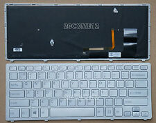 NEW for SONY VAIO Fit 14A multi-flip PC SVF14N KEYBOARD Backlit Silver Frame US