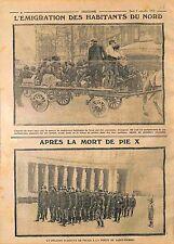 Emigration Exode Français du Nord/Peloton Police Porte de Saint-Pierre WWI 1914