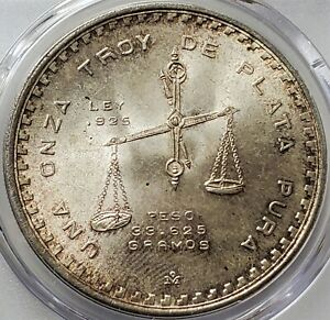 1 Onza 1979 Mo Medallic Coinage CASA DE MONEDA DE MEXICO MS65 PCGS Toning !!