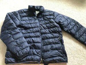 Men's EDDIE BAUER Navy Blue Down Puffer Quilted Jacket - Size Medium
