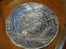 Enoch Wedgwood Woodland Dickens Coaching  Salad/Dessert plate